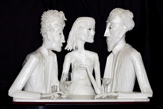 Cocktail Vignette Trio wall sculpture. This is not Duplicity ~ it's Triplicity...